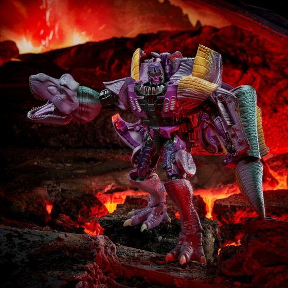 Transformers Generations Kingdom Leader Wave 1 Case of 2. (LEADER TREX MEGATRON and Unknown Figure). Preorder. Available in Mar 2021.