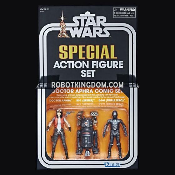 SDCC 2018 Star Wars The Vintage Collection Doctor Aphra Comic Set. Start Shipping Now!