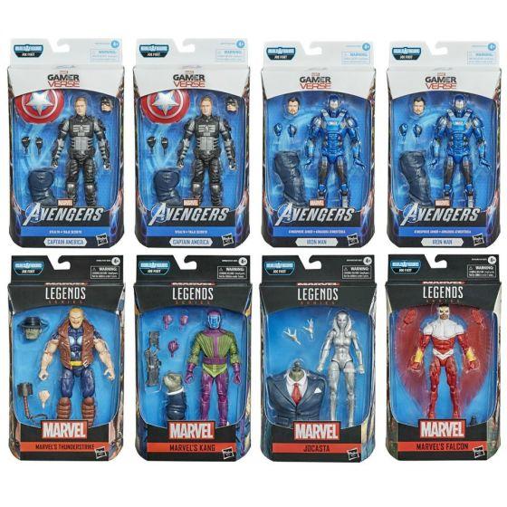 "Marvel Legends Gameverse 6"" Wave 2 Set of 8 (VIDEO GAME Kang, Falcon, Jocasta, Thunderstrike, Iron Man, Captain America).  Available NOW!"