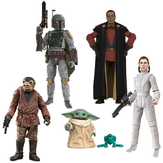 "Star Wars 3.75"" Vintage Collection Assortment Wave 6 Case of 8 (The Child (Baby Yoda Grogu), E6 BOBA FETT, Greef Karga,E5 PRINCESS LEIA BESPIN ESCAPE, Zutton). Preorder. Available in May 2021."