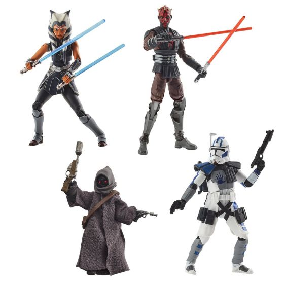 """Star Wars 3.75"""" Vintage Collection Assortment Case of 8 (Ahsoka, Darth Maul, ARC Trooper Echo, Offworld Jawa).  Preorder. Available in September 2021."""