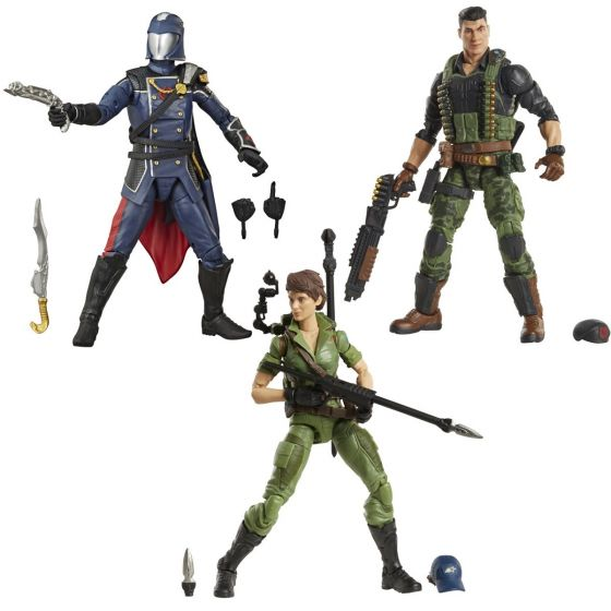 G.I. Joe Classified Series Figures Wave 6 set of 3 (Cobra Commander, Lady Jaye, Flint). Preorder. Availavble in June 2021.