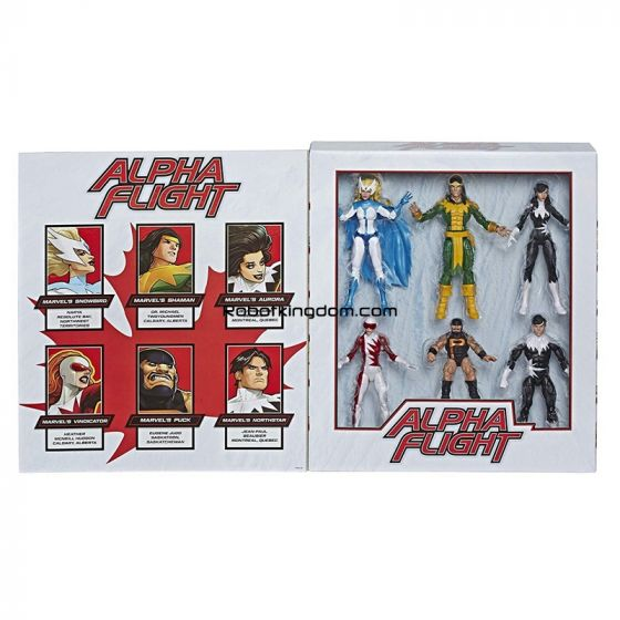 "Marvel Legends 6"" ALPHA FLIGHT 6 Pack (shaman, snowbird, Aurora, northstar, Vindicator, puck). Available Now!"
