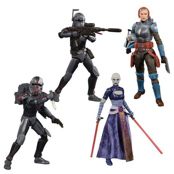 "Star Wars BLACK SERIES 6"" FIGURES Wave 4 Case of 8 (Hunter, Crosshair, Asajj Ventress, Bo-Katan Kryz, Unknown)."