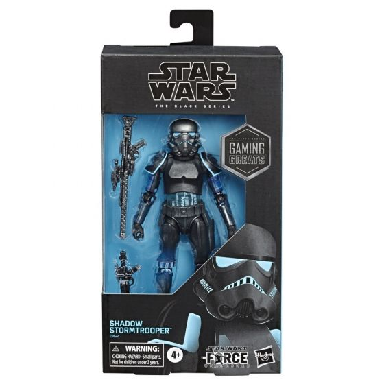 "Exclusives Star Wars Black Series 6"" Gaming Great Shadow Stormtrooper. Preorder. Available in June 2020."