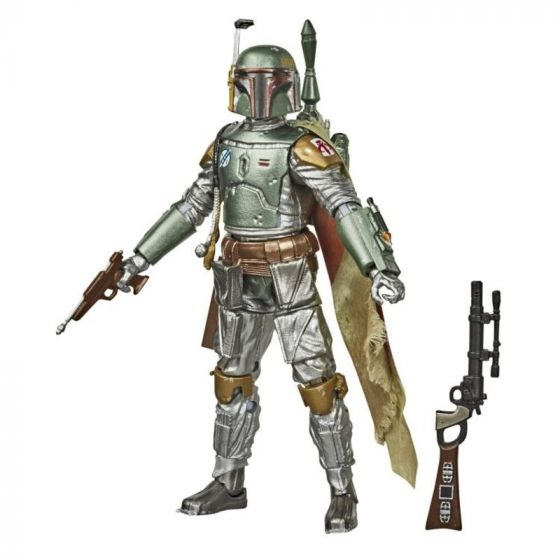 "Exclusive Star Wars Black Series 6"" Boba Fett Carbonized. Available Now."