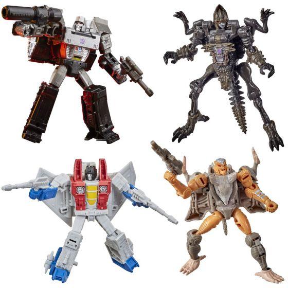 Transformers Generations Kingdom Core Wave 2 Case of 8 (VERTEBREAK, RATTRAP, STARSCREAM, MEGATRON ). Available Now!