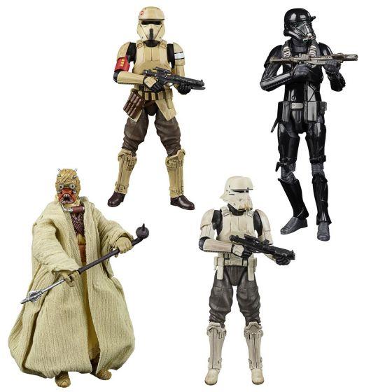 Star Wars BLACK SERIES GREATEST HITS Assortment set of 4 (Tusken Raider, Shoretrooper (Scarif Stormtrooper), Imperial Hovertank Driver, Imperial Death Trooper) . Preorder. Start Shipping on 1st June 2021.