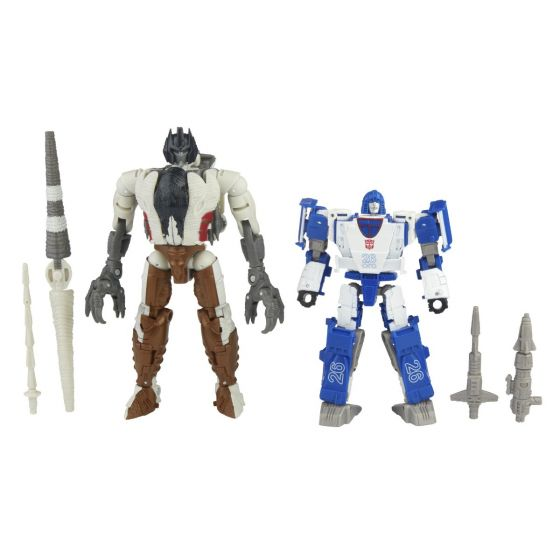 Exclusive Transformers Generations War for Cybertron: Kingdom Battle Across Time Collection Deluxe WFC-K40 Autobot Mirage & Maximal Grimlock. Preorder. Start Shipping on 1st November 2021.
