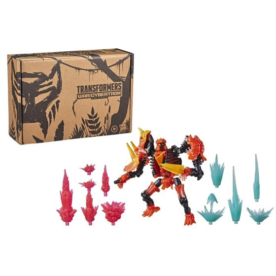 Transformers Generations War for Cybertron Deluxe WFC-K39 Tricranius Beast Power Fire Blasts Collection pack. Preorder. Start Shipping on 1st October 2021.