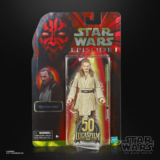 "STAR WARS The Black Series Lucasfilm 50th Anniversary 6"" Qui-Gon Jinn. Preorder. Start Shipping on 1st May 2021."