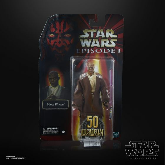 "STAR WARS The Black Series Lucasfilm 50th Anniversary 6"" Mace Windu. Preorder. Start Shipping on 1st April 2021."