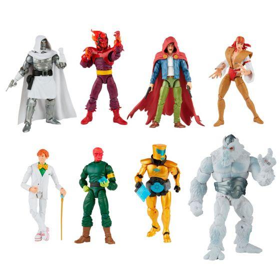 """Marvel Legends Super Villains 6"""" Action Figures Wave 1 Case of 8 (Dr. Doom, Red Skull , The Hood , Lady Deathstrike, Arcade, A.I.M. Scientist Supreme, Dormammu, Xenmu BAF). Preorder. Start Shipping on 1st August 2021."""