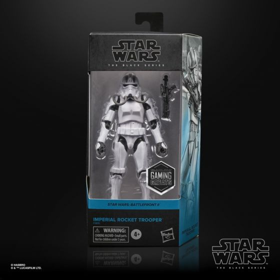 "HASBRO STAR WARS BATTLEFRONT II THE BLACK SERIES 6""GAMING GREATS IMPERIAL ROCKET TROOPER. Preorder. Start Shipping 1st July 2021."