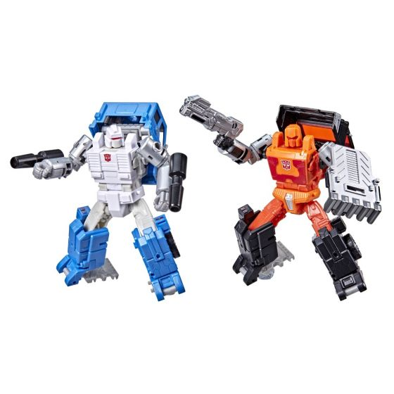Transformers Generations War for Cybertron Golden Disk Collection Chapter 1, Autobot Road Ranger and Autobot Puffer. Preorder. Available in March 2022.