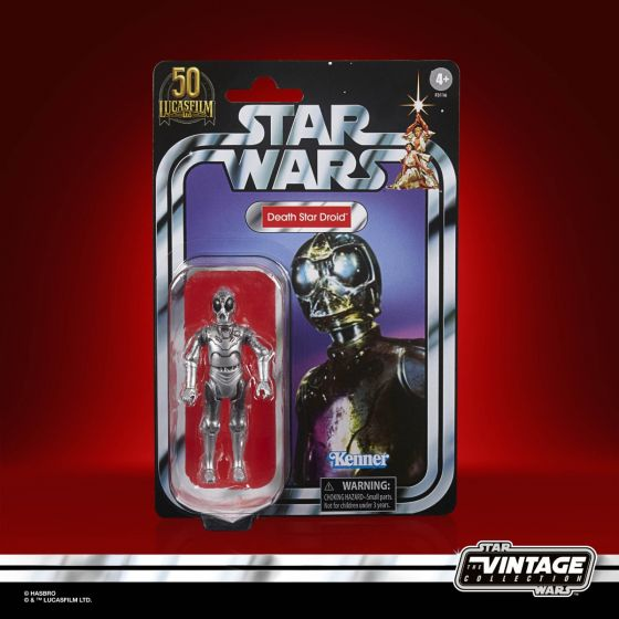 """Exclusive STAR WARS THE VINTAGE COLLECTION Lucasfilm 50th Anniversary 3.75"""" DEATH STAR DROID Figure. Preorder. Start shipping on 1st September 2021."""