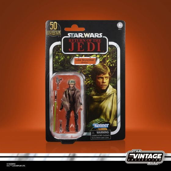 """Exclusive STAR WARS THE VINTAGE COLLECTION Lucasfilm 50th Anniversary 3.75"""" LUKE SKYWALKER (ENDOR) Figure. Preorder. Start shipping on 1st September 2021."""