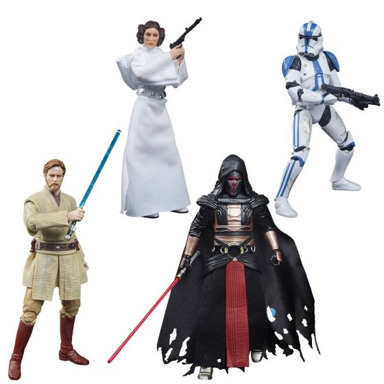 "Star Wars: The Black Series Archive Collection 6"" set of 4 (Princess Leia, Obi-Wan Kenobi,501st Clone Trooper, Darth Revan). Preorder. Start Shipping on 1st December 2021."