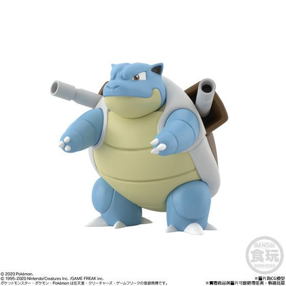 POKEMON SCALE WORLD KANTO BLASTOISE W/O GUM. Preorder. Available in April 2021.