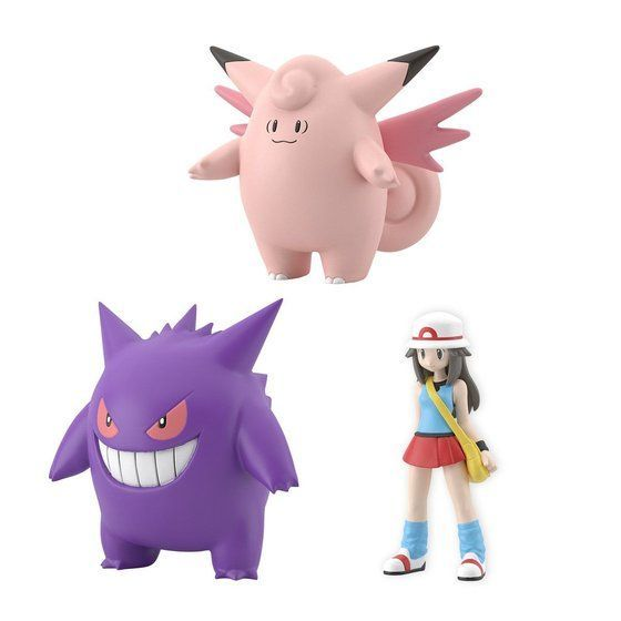 POKEMON SCALE WORLD KANTO LEAF & CLEFABLE & GENGAR W/O GUM. Preorder. Available in May 2021.