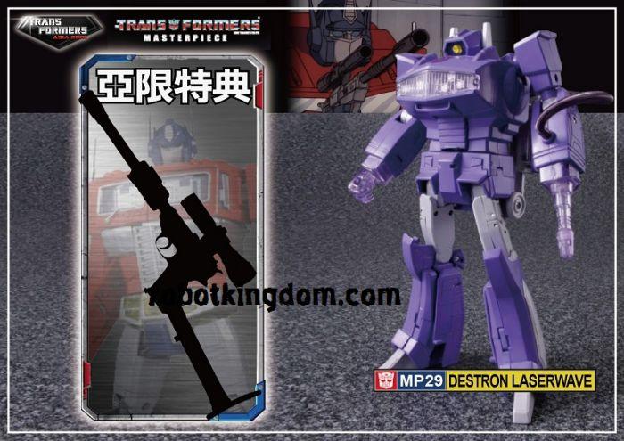Takara Transformers Masterpiece MP-29 Laserwave with Exclusive premium gun. Available Now!