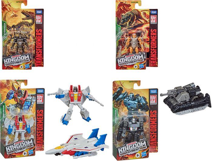 Transformers Generations Kingdom Core Wave 2 Case of 8 (VERTEBREAK, RATTRAP, STARSCREAM, MEGATRON ). Preorder. Available in May 2021.