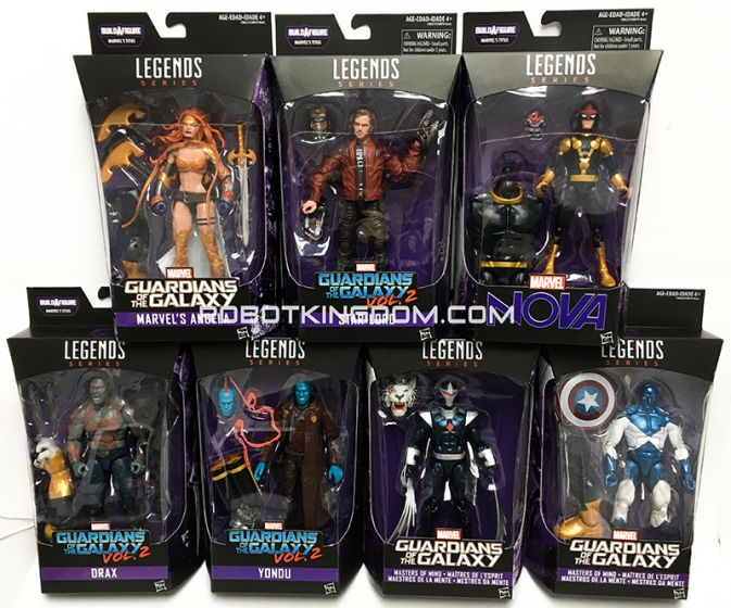 "Guardians of the Galaxy Vol.2 Marvel Legends 6"" Assortment 2017 wave 1 Case of 8. Available Now!"