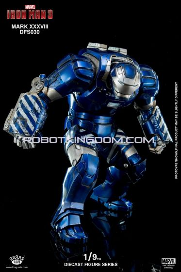 King Arts - 1/9 Diecast Figure Series -DFS030- Iron Man Mark 38. Available Now!
