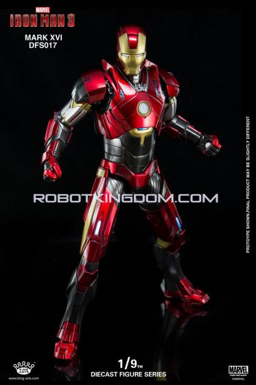 King Arts - 1/9 Diecast Figure Series - DFS017- Iron Man Mark 16. Available Now!