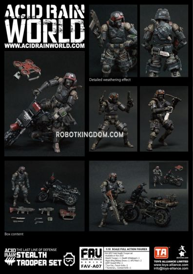 Acid Rain World FAV-A07  Stealth Trooper set. Available Now!