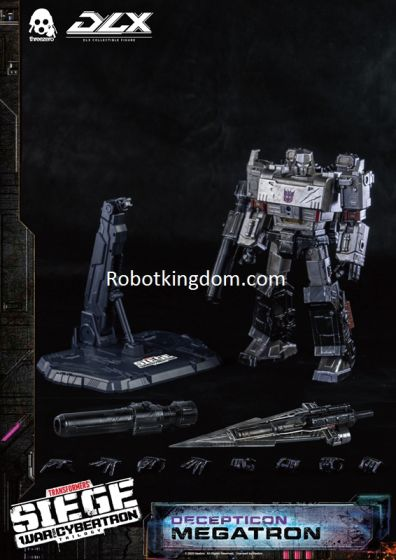 Hasbro x Threezero Presents Transformers: War For Cybertron Trilogy  DLX Megatron. Preorder. Available in 1st Quarter 2021.