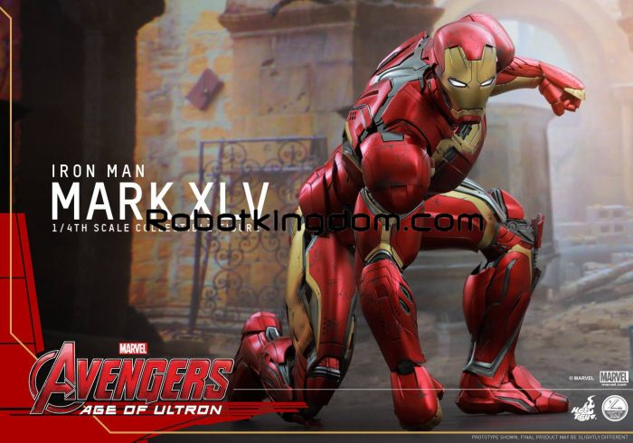 Hot Toys Movie Masterpiece Quarter Scale – 1/4 Scale Fully Poscable Figure: Avengers Age of Ultron – Mark XLV. Free Shipping. Last Pcs!
