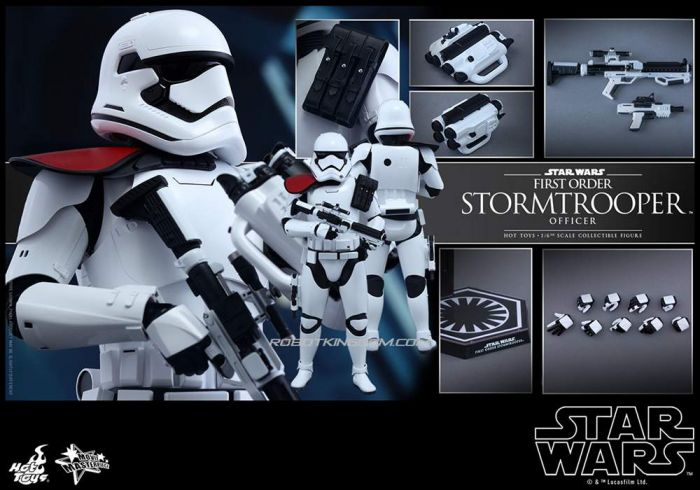 Hot Toys MMS334 Star Wars The Force Awakens First Order Stormtrooper Officer. Preorder. Available in 4th Quarter 2018.