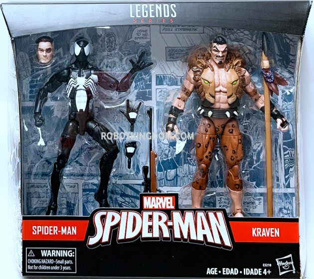 """Marvel Legends Spiderman 6"""" Symbiote Spiderman and Kraven 2 Pack. Available Now!"""