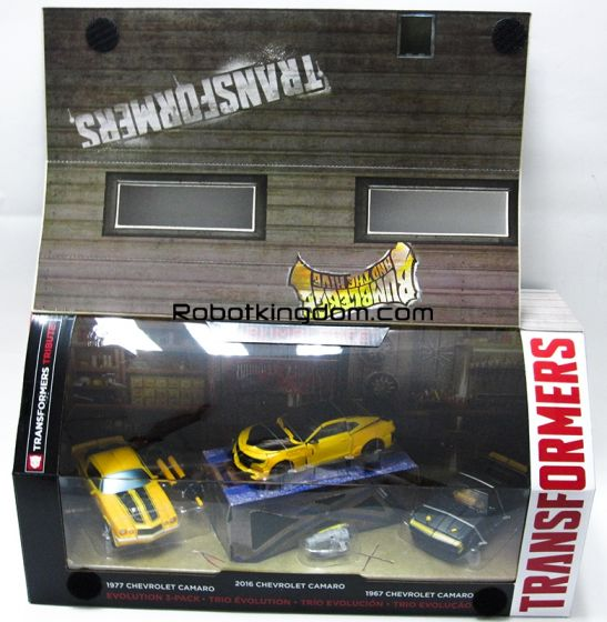 Transformers Movie 5 - The Last Knight Amazon Exclusive Bumblebee Evolution 3 Pack. Available Now!