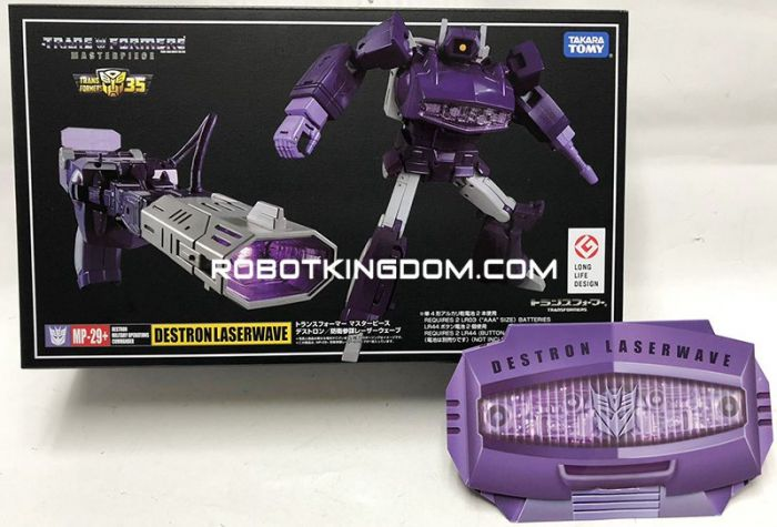 TakaraTomy Mall Exclusive Transformers Masterpiece MP-29+ Destron Laserwave with exclusive coin. Available Now!