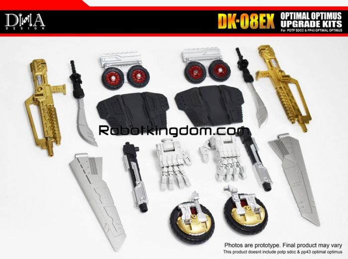 DNA Design DK-08EX Upgrade Kit for POTP Throne of the Primes Optimal Optimus. Available Now!