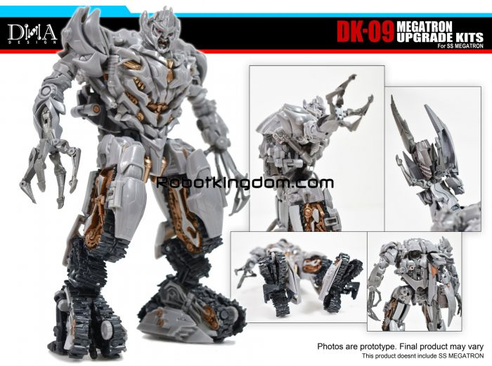 DNA DESIGN DK-09 Studio Series Megatron Kits with First Production Bonus. Available Now!