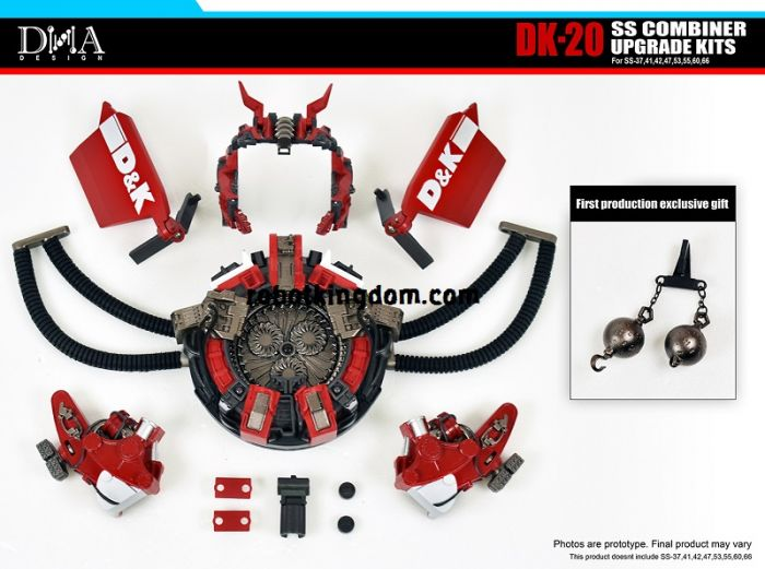 DNA DESIGN DK-20 Studio Series SS COMBINER UPGRADE KITS with First Production Bonus. Available Now!