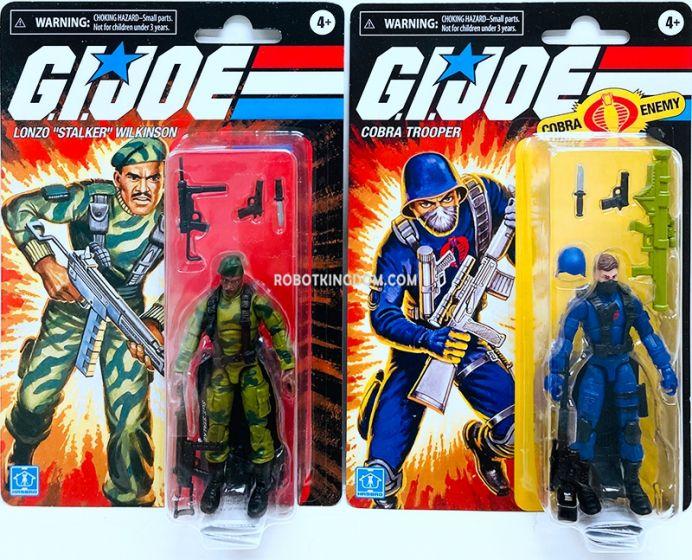 "G.I. Joe RETRO 3.75"" Set of 2 (Cobra Trooper, Lonzo ""Stalker"" Wilkinson). Available Now!"
