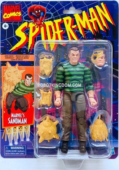 "Marvel Legends SpiderMan Retro 6"" Sandman. Available Now!"