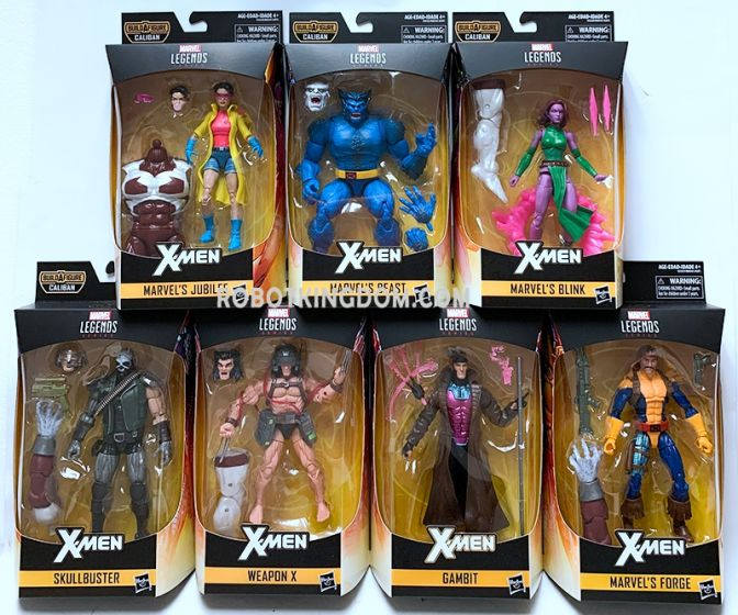 """Marvel Legends X-Men 6"""" set of 7. (Skullbuster, Blink, Forge, Jubilee, Gambit, Beast, Weapon X). Available Now!"""