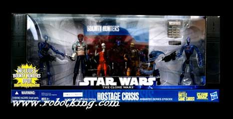 "Hasbro Star Wars 2010 Bounty Hunters from ""Hostage Crisis"" Exclusive Battle Pack."