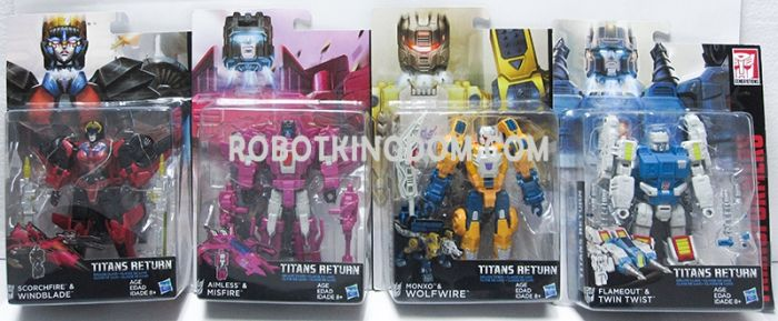 Generations 2017 Deluxe Titans Return Wave 3 Set of 4. (WOLFWIRE, WINDBLADE, MISFIRE, TWINTWIST) Available Now!