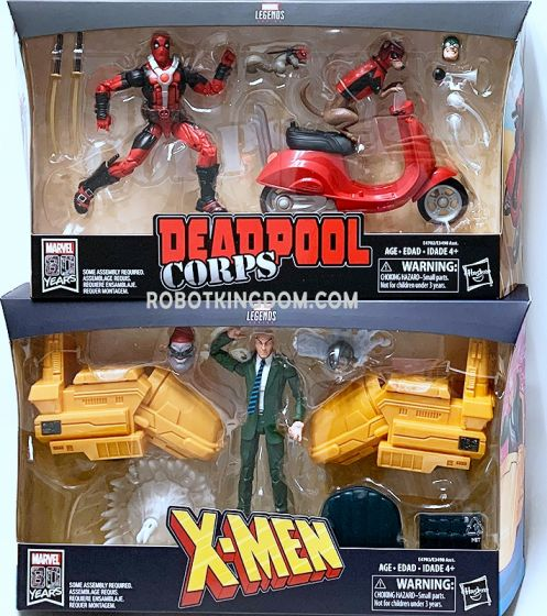 Ultimate Marvel Legends Wave 3 Set of 2 (Professor X with wheelchair, Deadpool with Bike). Available Now!