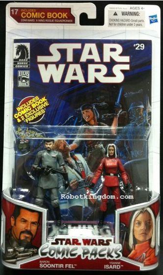 Hasbro Star Wars 2010 Comic Two-Packs Exclusive - Soontir Fel & Ysanne Isard.