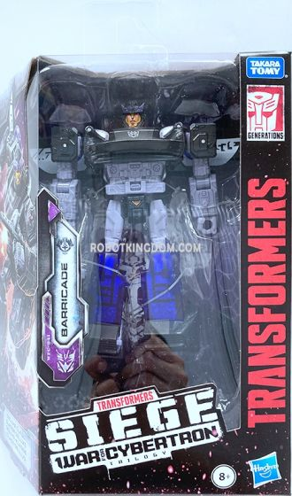 Transformers Generations WFC DELUXE BARRICADE. Available Now!