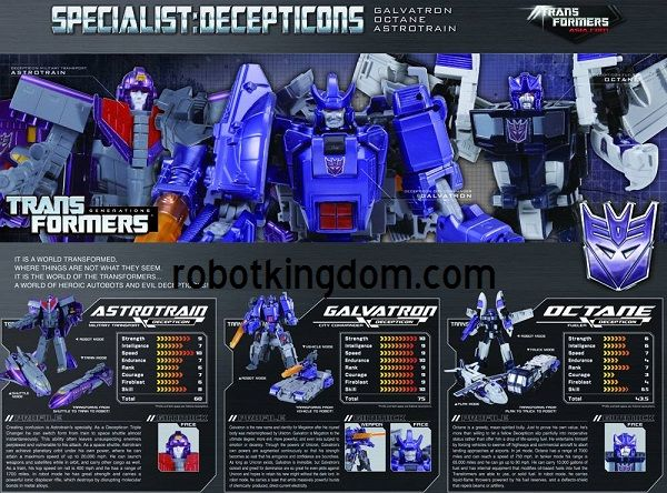 Takara Henkei Decepticon Specialists Three Pack Galvatron, Octane, Astrotrain Asia Exclusive (Non Japan Release). Available Now!