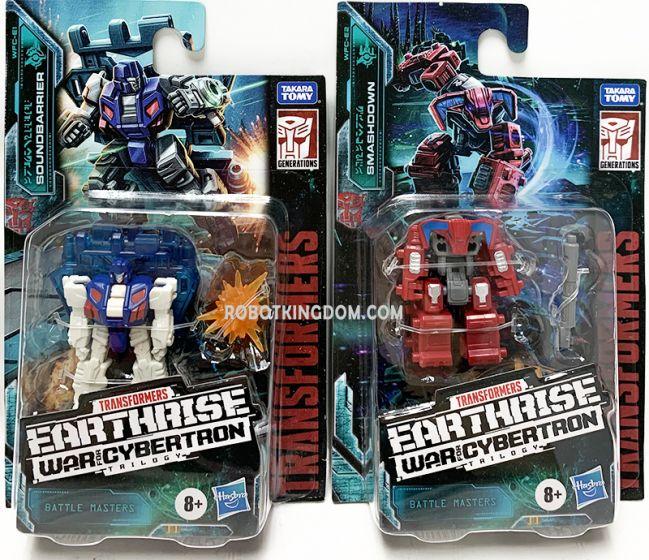 Transformers Generations Earthrise Battle master set of 2 (SOUNDBARRIER, SMASHDOWN). Available Now!