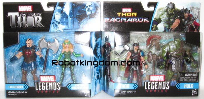 Marvel Legends 2017 Thor 3.75 inch Legend Movie 2 Pack wave 1 set of 2. Available Now!